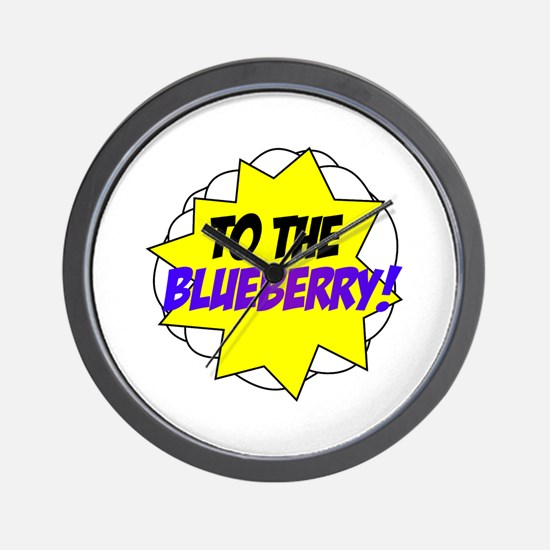 Psych, To The Blueberry! Wall Clock