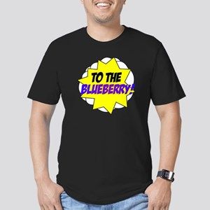 Psych, To The Blueberry! Men's Fitted T-Shirt (dar