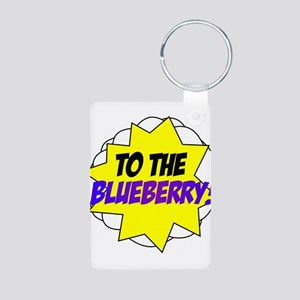 Psych, To The Blueberry! Aluminum Photo Keychain