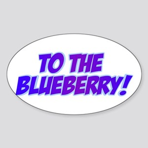 Psych, Blueberry! Sticker (Oval)