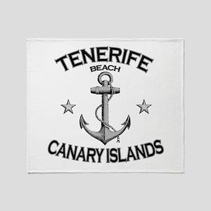 Tenerife Beach, Canary Islands Throw Blanket