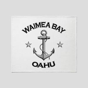 Waimea Bay, Oahu, Hawaii Throw Blanket