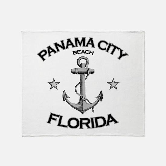 Panama City Beach, Florida Throw Blanket