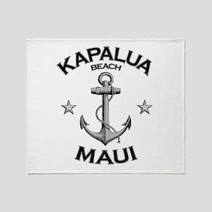 Kapalua Beach, Maui Throw Blanket