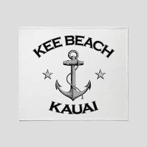Kee Beach, Kauai, Hawaii Throw Blanket