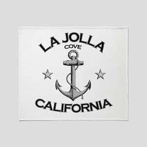 La Jolla Cove, California Throw Blanket