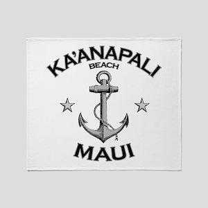 Ka'anapali Beach, Maui Throw Blanket