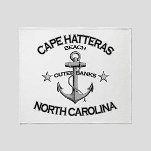 Cape Hatteras Beach, NC Throw Blanket