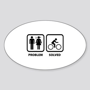 Problem Solved Cycling Sticker (Oval)