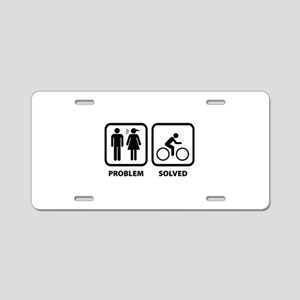 Problem Solved Cycling Aluminum License Plate