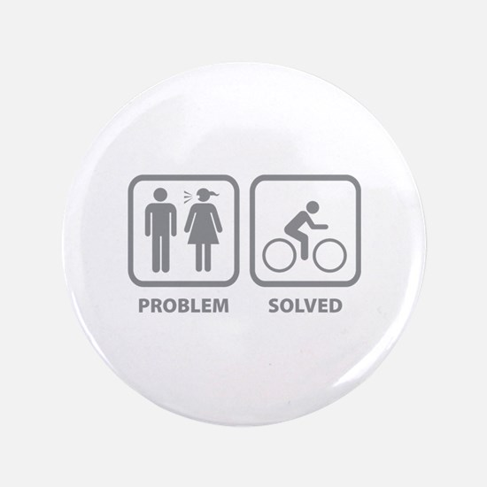 """Problem Solved Cycling 3.5"""" Button"""
