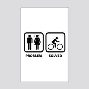 Problem Solved Cycling Mini Poster Print
