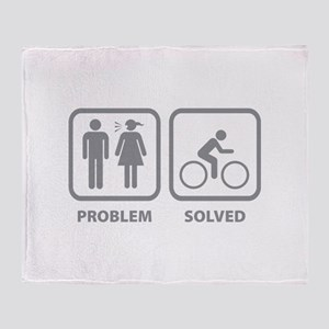 Problem Solved Cycling Throw Blanket