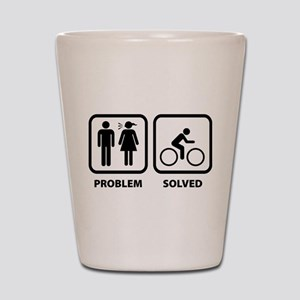 Problem Solved Cycling Shot Glass