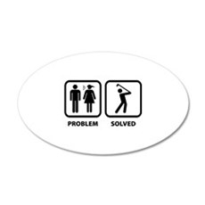 Problem Solved Golfing 22x14 Oval Wall Peel