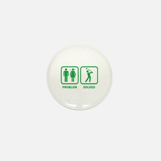 Problem Solved Golfing Mini Button