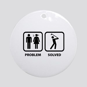 Problem Solved Golfing Ornament (Round)