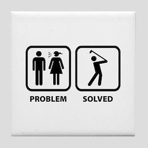 Problem Solved Golfing Tile Coaster