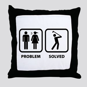 Problem Solved Golfing Throw Pillow