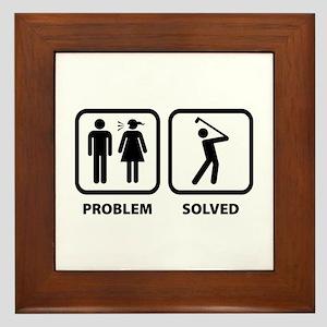 Problem Solved Golfing Framed Tile