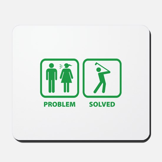 Problem Solved Golfing Mousepad