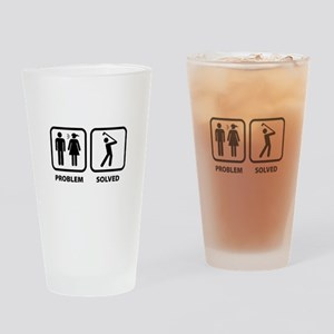 Problem Solved Golfing Drinking Glass