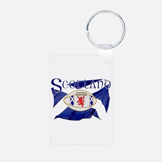Scotland rugby flag Keychains
