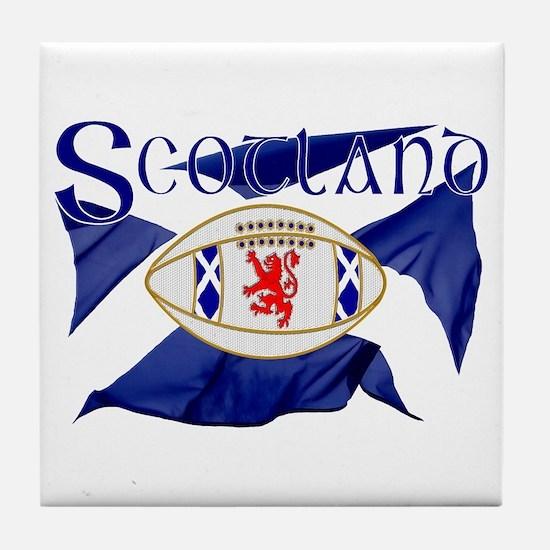 Scotland rugby flag Tile Coaster