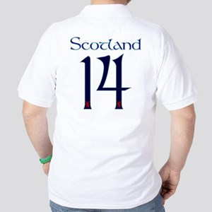Scotland rugby flag Golf Shirt