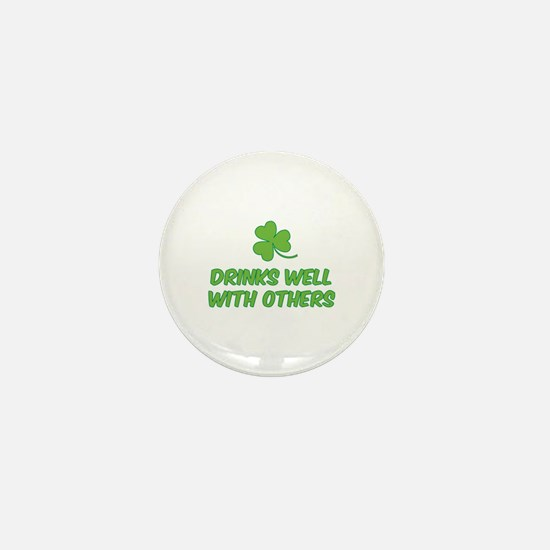 Drinks well with others Mini Button (10 pack)