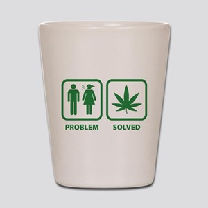Problem Solved Weed Shot Glass