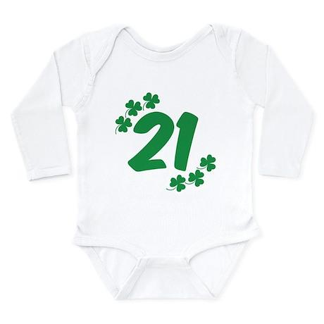 21st Irish Birthday Long Sleeve Infant Bodysuit