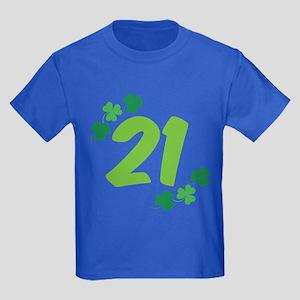 21st Irish Birthday Kids Dark T-Shirt