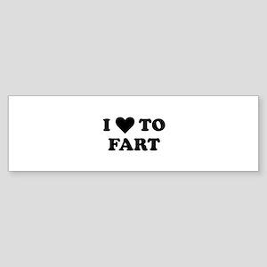 I Love To Fart Sticker (Bumper)