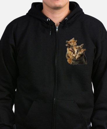 Long coat shepherd Zip Hoodie (dark)