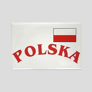 Polish / Polska Flag Rectangle Magnet (10 pack)