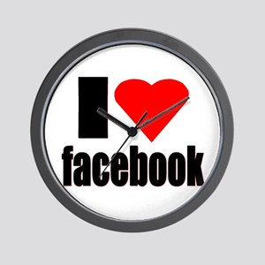 Facebook Wall Clock