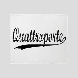 Quattroporte Throw Blanket