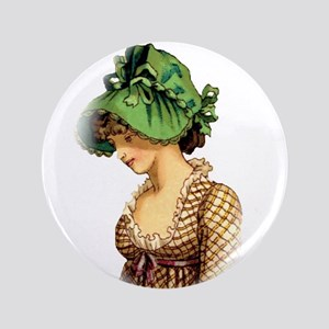 "Green Bonnet 3.5"" Button"