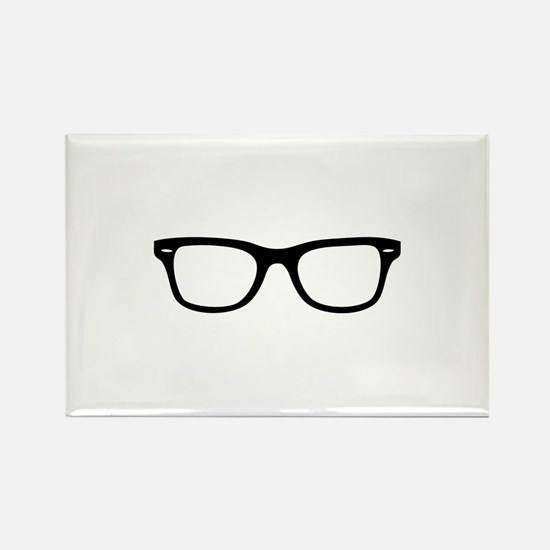 Geek Glasses Rectangle Magnet