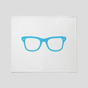 Geek Glasses Throw Blanket