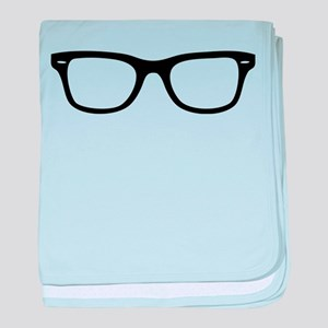 Geek Glasses baby blanket