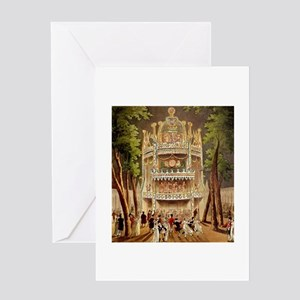 Vauxhall Gardens 1809 Greeting Card