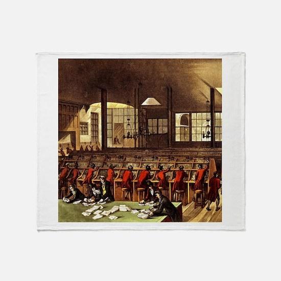 London Post Office 1809 Throw Blanket