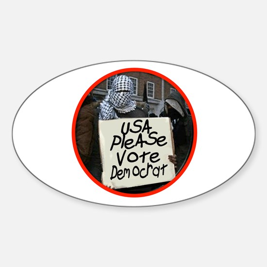 TERRORIST USA Sticker (Oval 10 pk)