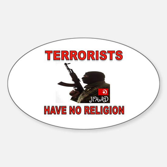 TERRORIST USA Sticker (Oval)