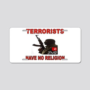 TERRORIST USA Aluminum License Plate