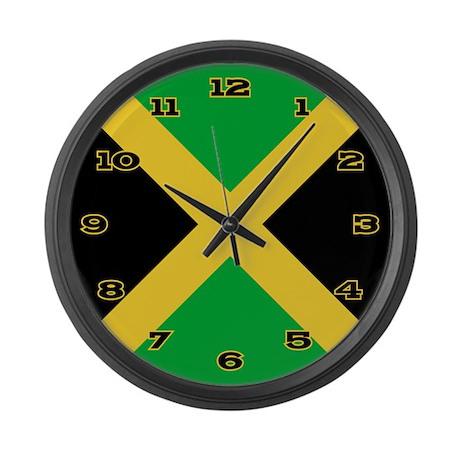 Jamaica Flag Large Wall Clock