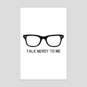 Talk nerdy to me Mini Poster Print
