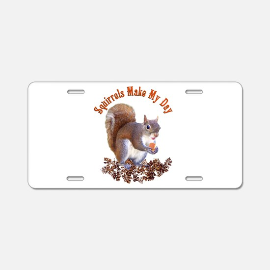 Squirrel Day Aluminum License Plate